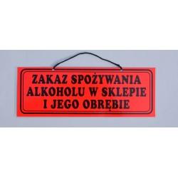 Zakaz spożywania alkoholu w sklepie i jego obrębie